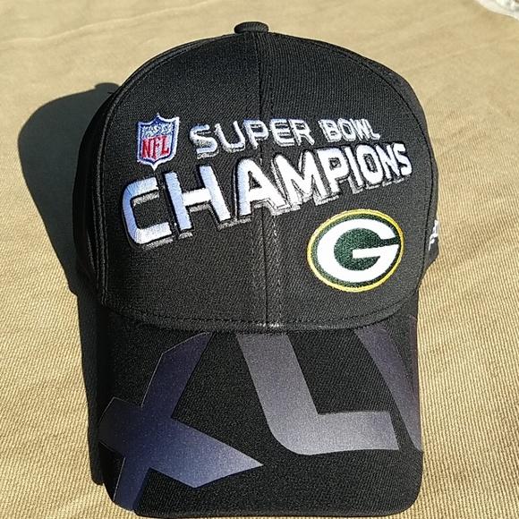 be408fcbd6db74 Reebok Accessories   Nwt Green Bay Packers Super Bowl Xlv Champ Cap ...